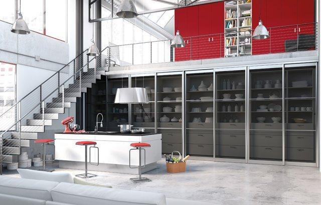cuisine façade coulissante