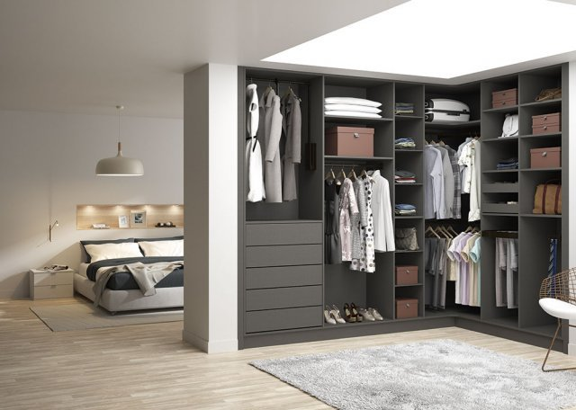 chambre parentale dressing d'angle