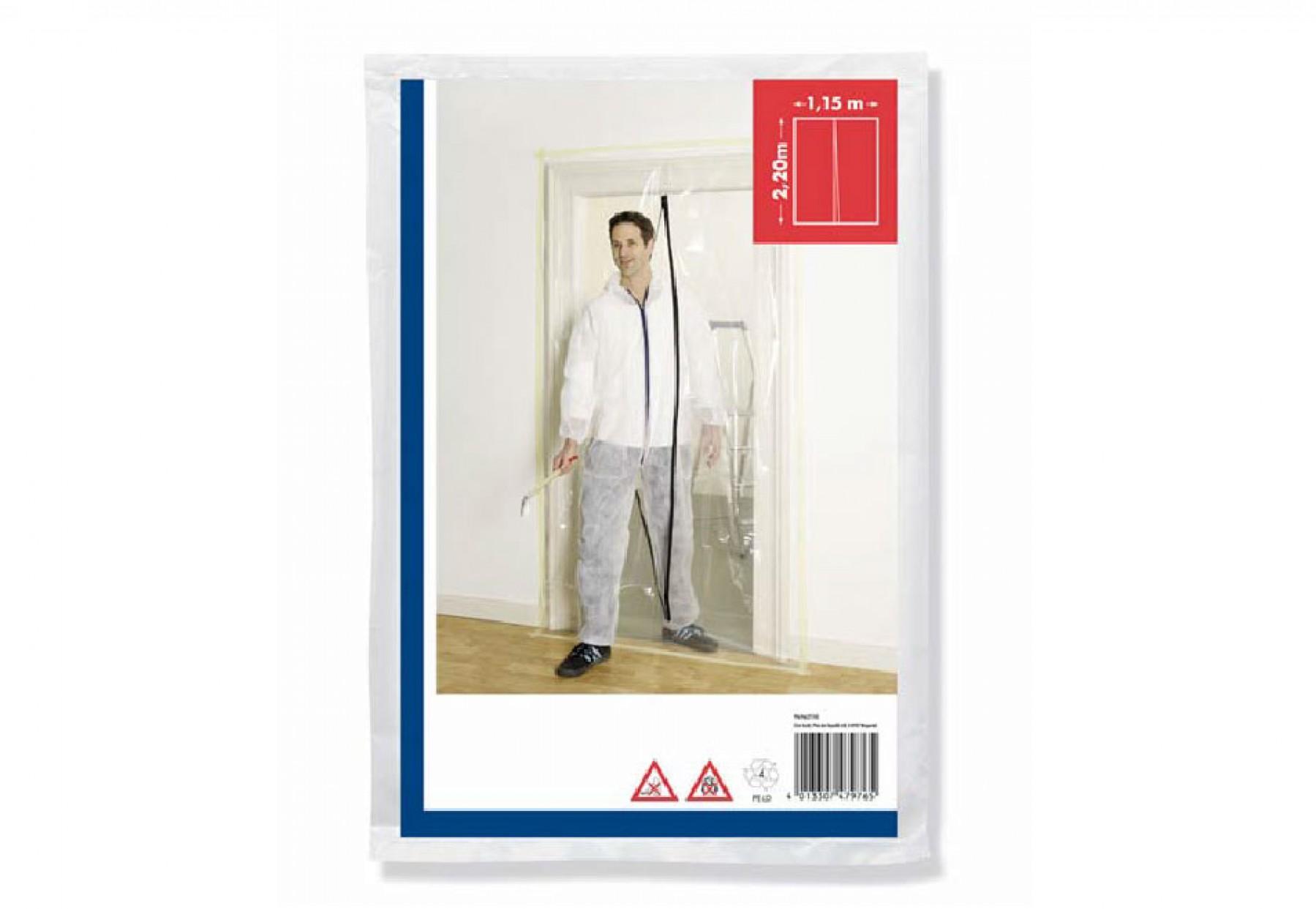 Photo Porte anti-poussière avec fermeture zip