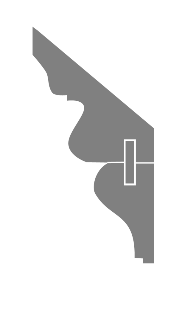 Profil CORNICHE FEUILLE D'EAU